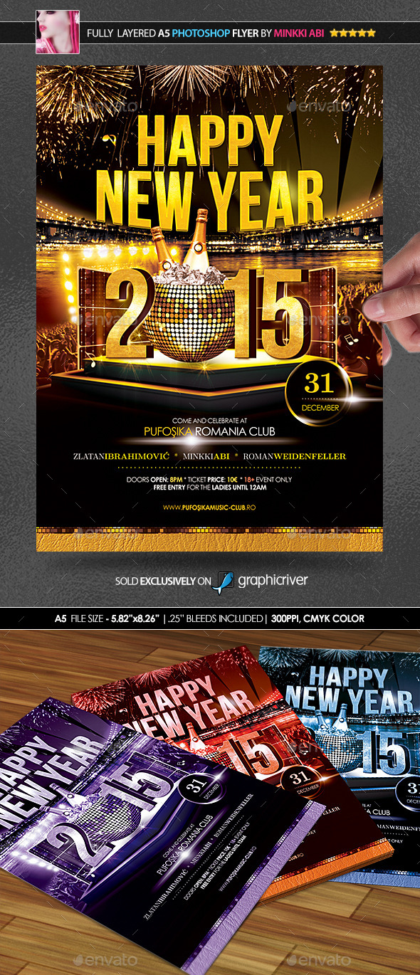 Happy New Year Poster Flyer