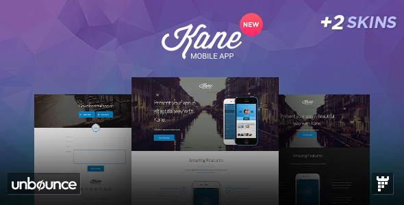 ThemeForest Kane Responsive Unbounce App Landing Page 9222373