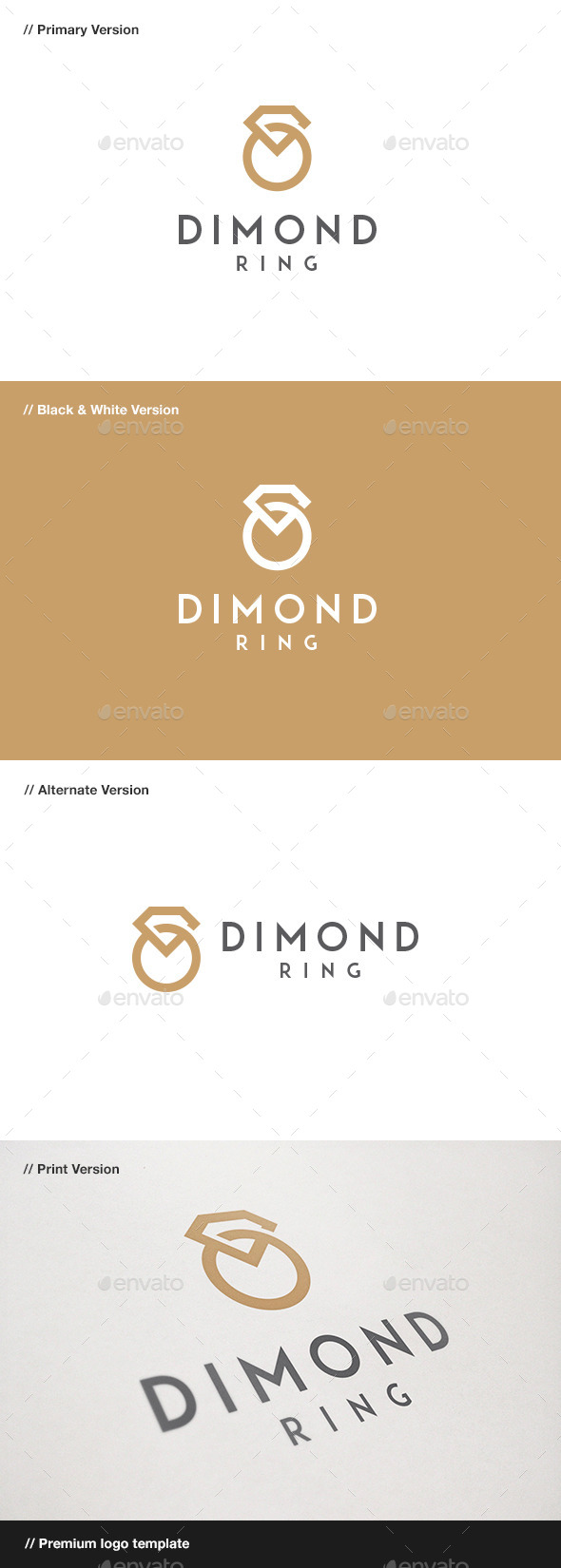 GraphicRiver Diamond Ring Jewelry Logo 9222381