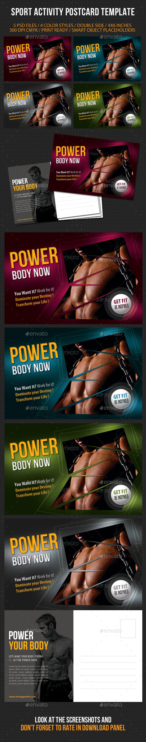 GraphicRiver Sport Activity Postcard Template V03 9222577