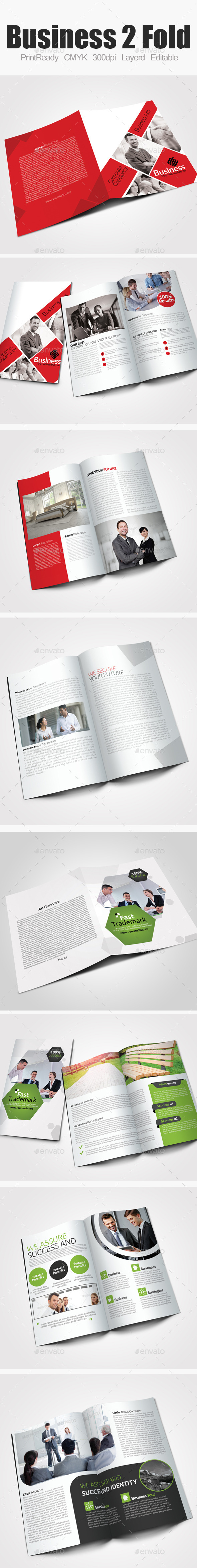 GraphicRiver Bi Fold Business Brochure Bundle 9222596