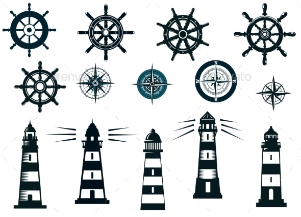 GraphicRiver Set of Marine or Nautical Themed Icons 9222600