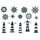 Set of Marine or Nautical Themed Icons - GraphicRiver Item for Sale