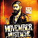 Movember Mustache Party | Flyer Template PSD - GraphicRiver Item for Sale