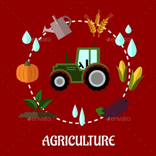 GraphicRiver Agriculture Flat Infographic Concept 9222701