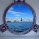 Beautiful Kaohsiung Port Seen Through a Porthole of a Ship - PhotoDune Item for Sale