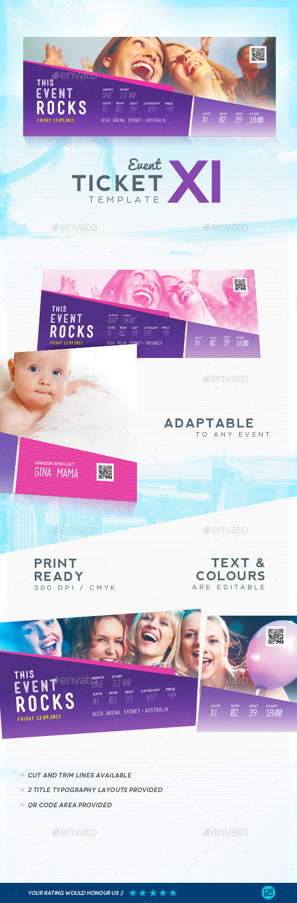 GraphicRiver Event Ticket Template 11 9223252