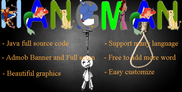 CodeCanyon Hangman Android Game with Admob 9223648