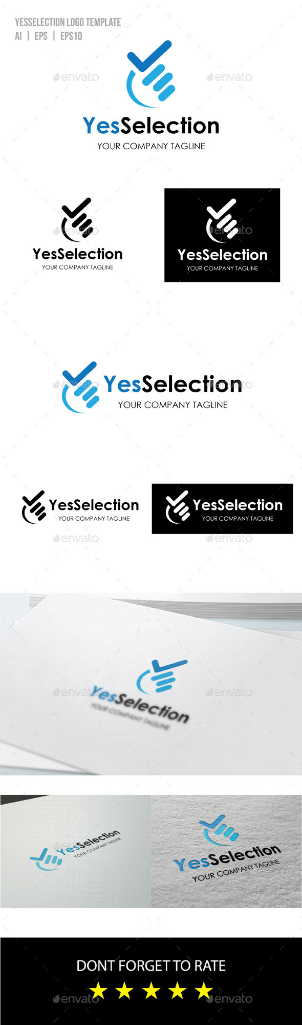GraphicRiver Yes Selection Logo 9223680