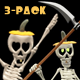 Dancing Skeleton Trio - Pumpkin Hats - Pack of 3 - VideoHive Item for Sale