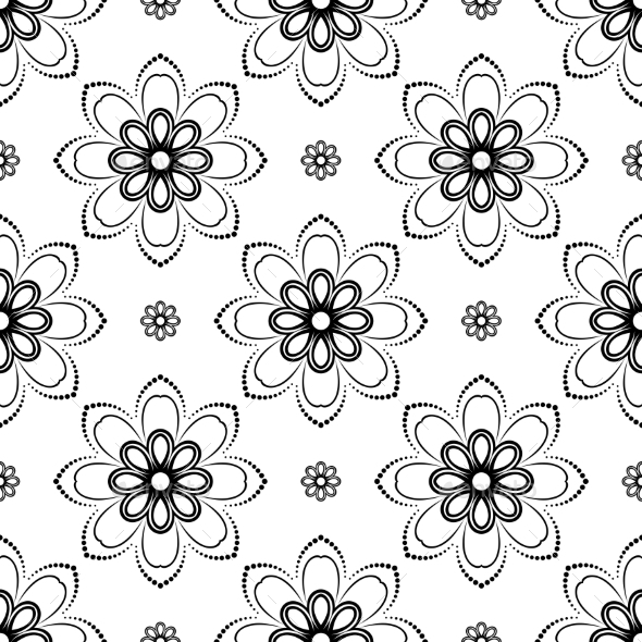 GraphicRiver Floral Seamless Vector Pattern 9223799