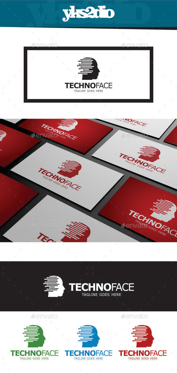 GraphicRiver Technology Face Logo 9217396