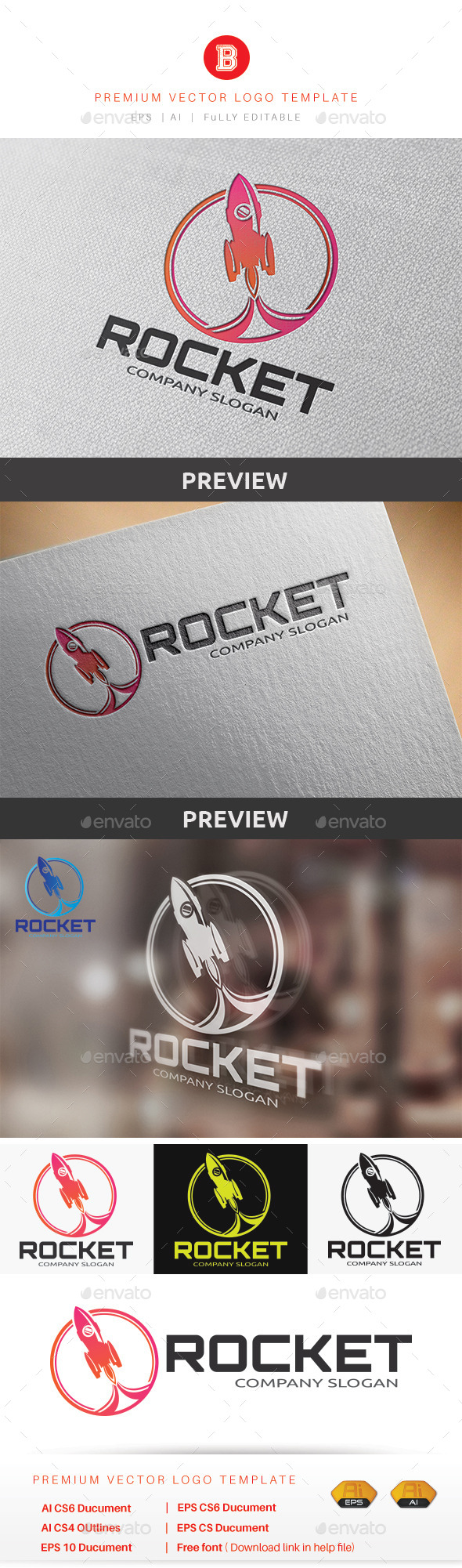 GraphicRiver Rocket Logo 9223849