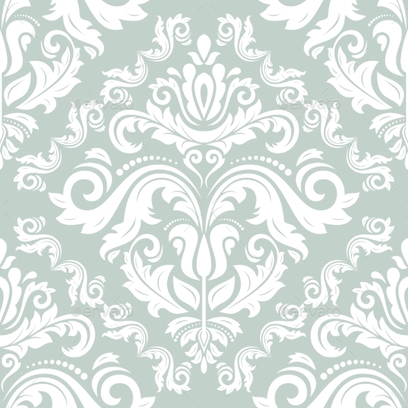 GraphicRiver Damask Seamless Vector Pattern 9224102
