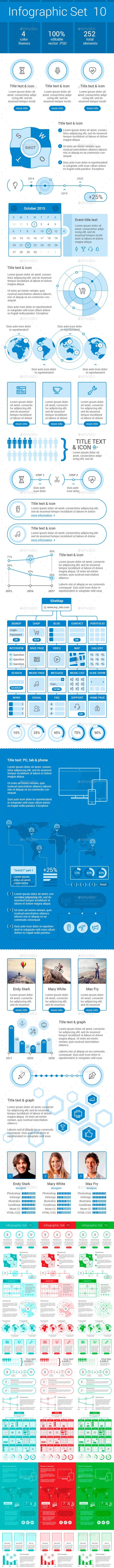 GraphicRiver Infographic SET 10 9224108