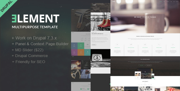 ThemeForest Element-Multipurpose Drupal Theme 9224416