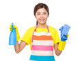 Housewife with spray and towel - PhotoDune Item for Sale