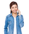 Asian woman talk to mobile phone - PhotoDune Item for Sale