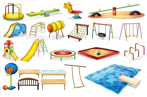 GraphicRiver Playground Equipments 9224509
