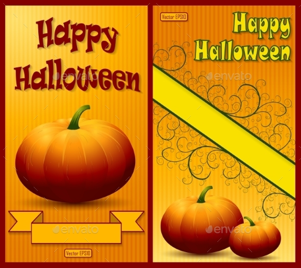 GraphicRiver Set of Happy Halloween Backgrounds 9224510