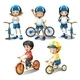 Kids with their Bikes - GraphicRiver Item for Sale