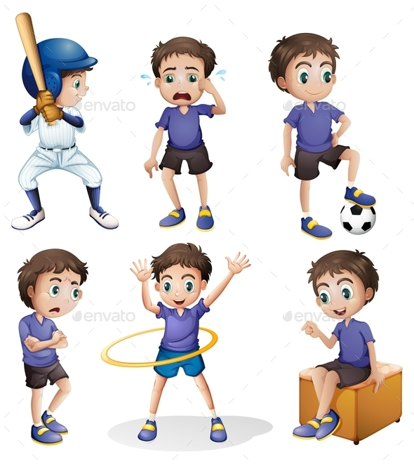 GraphicRiver Different Activities of a Young Boy 9224748