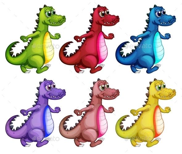 GraphicRiver Six Colorful Crocodiles 9224774