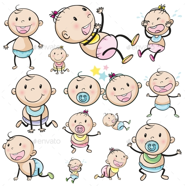 GraphicRiver A Group of Babies 9224777