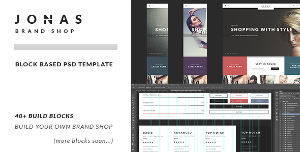 ThemeForest JONAS Brand Shop PSD Template 9201106