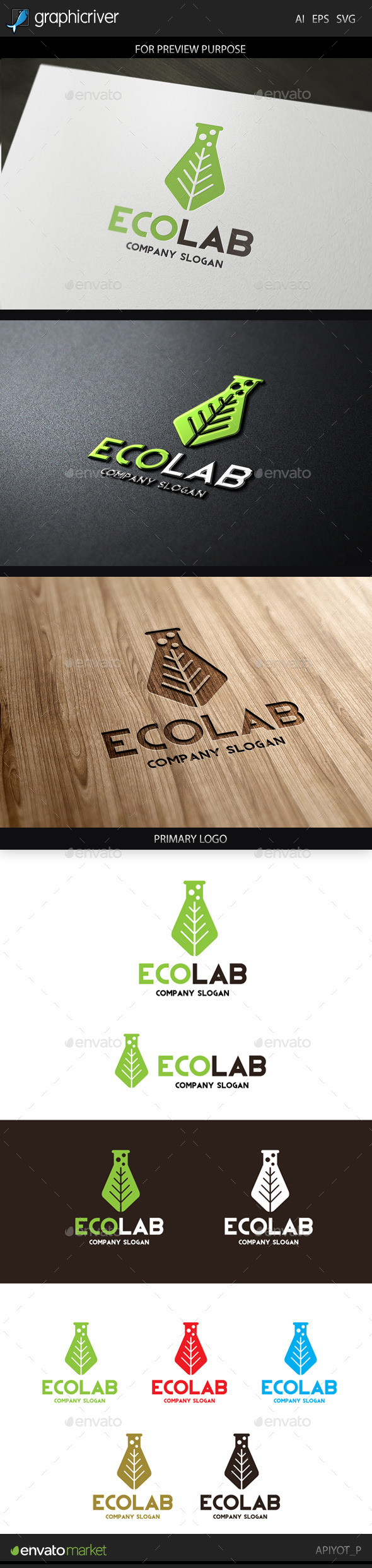 GraphicRiver Eco Lab Logo 9224834