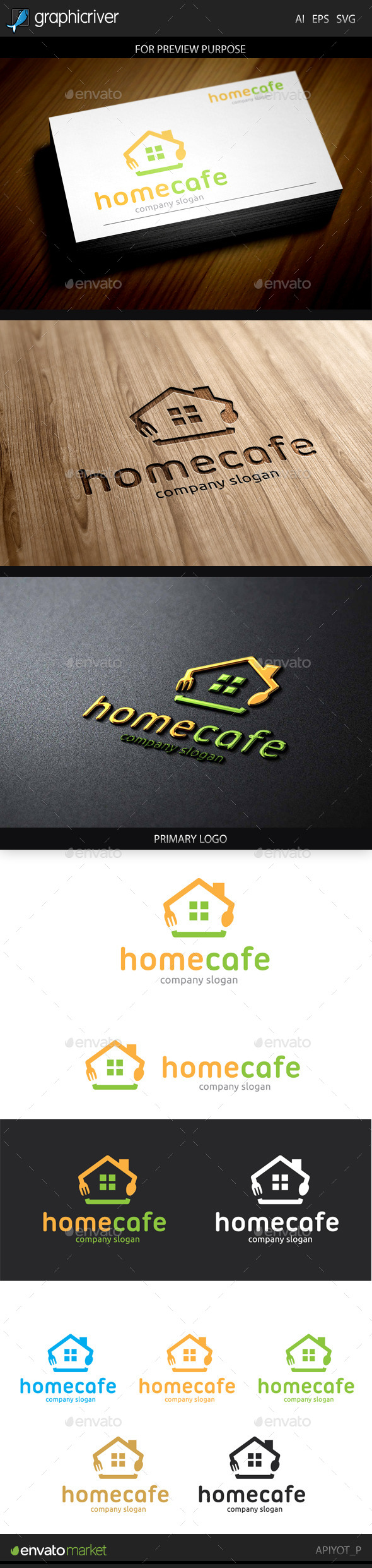 GraphicRiver Home Cafe logo 9224905