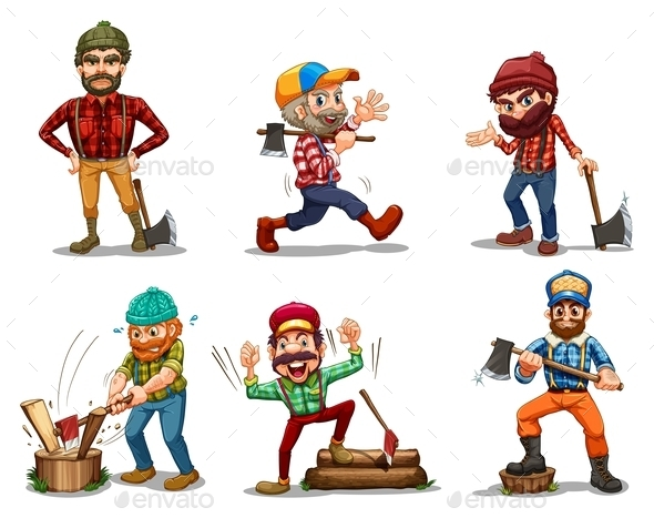 GraphicRiver Six Men with Axes 9225014