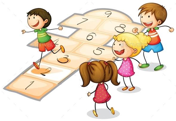 GraphicRiver Kids Playing 9225058