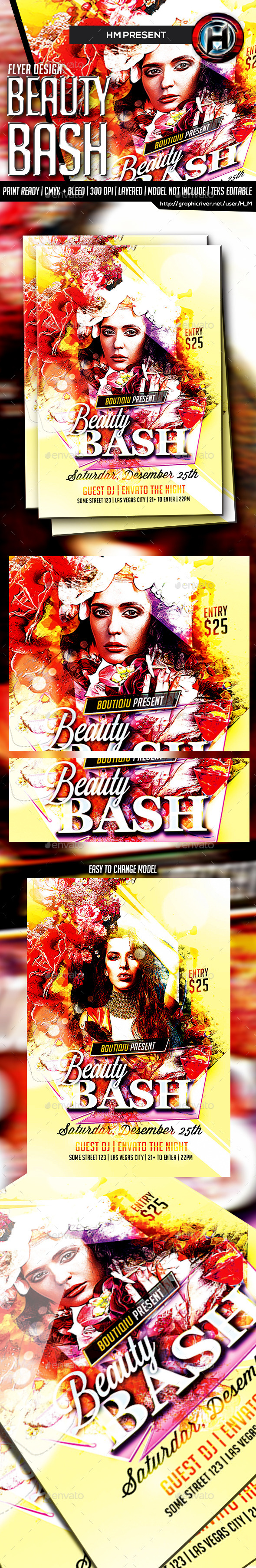 GraphicRiver Beauty Bash Flyer 9225162
