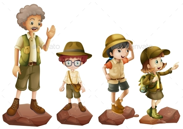 GraphicRiver A Family of Explorers 9225218