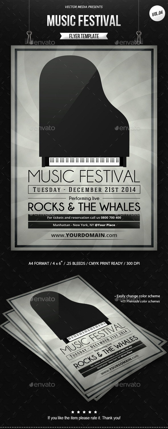 GraphicRiver Music Festival Flyer [Vol.4] 9225290