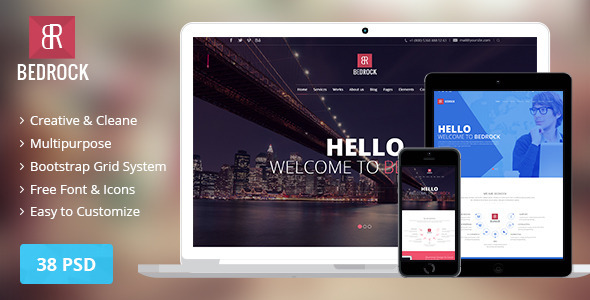 Bedrock Multi Purpose Theme