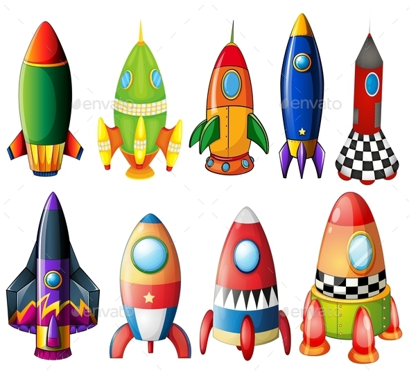 GraphicRiver Colorful Rockets 9225451