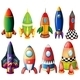 Colorful Rockets - GraphicRiver Item for Sale