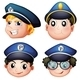 Head of Four Cops  - GraphicRiver Item for Sale