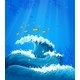 A Wave and Fishes under the Sea  - GraphicRiver Item for Sale