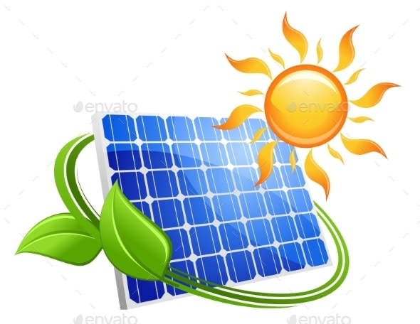 GraphicRiver Solar energy eco concept 9225581