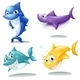 A Group of Sharks - GraphicRiver Item for Sale