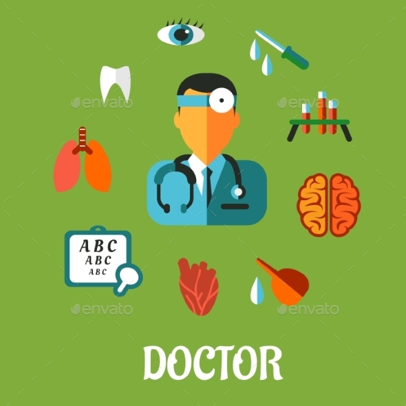 GraphicRiver Medical flat infographic concept 9225591