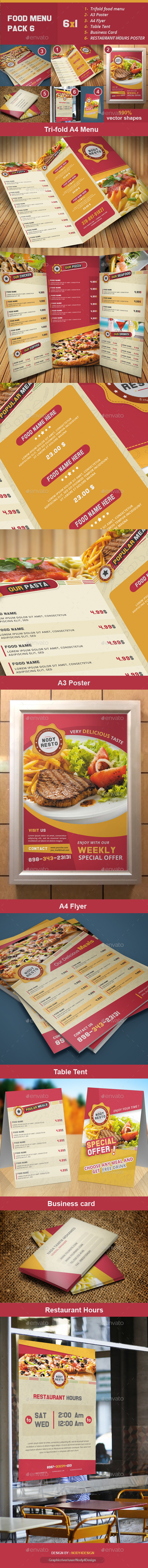 Food Menu Pack 6