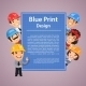 Builders Presenting Blue Print Poster - GraphicRiver Item for Sale