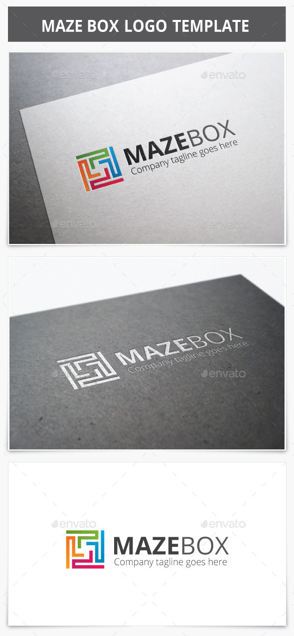 GraphicRiver Maze Box Logo 9225645