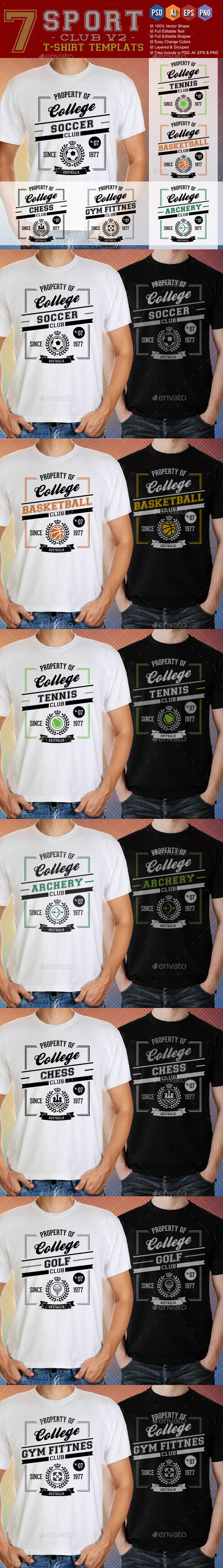 GraphicRiver Sports Club T-Shirt Template v2 9225662