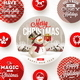 Set of Christmas Greeting Design and Flat Icons - GraphicRiver Item for Sale