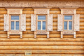 Windows on the wooden house facade. Old Russian country style - PhotoDune Item for Sale